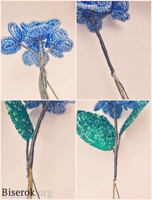 создаем цветок из бисера